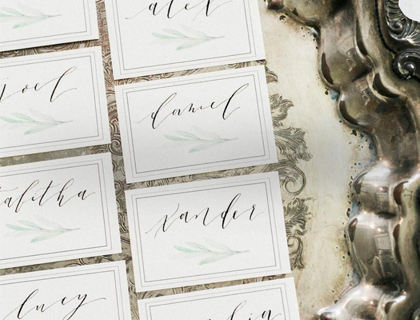 Houston Wedding Calligraphy