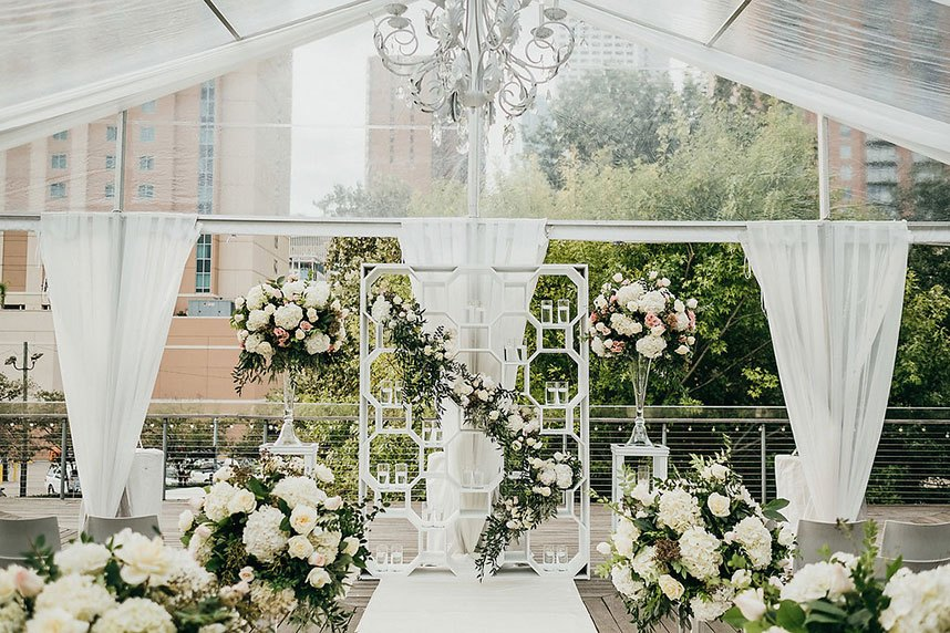 c8e068d5c15 Glamorous Garden Party Wedding at The Grove Houston
