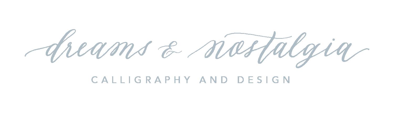 Dreams and Nostalgia - Houston Calligraphy, Invitations