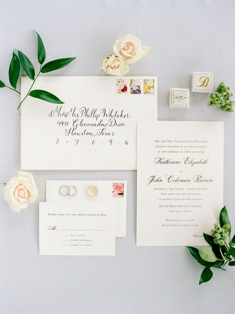 Bering's - Houston Wedding Invitations