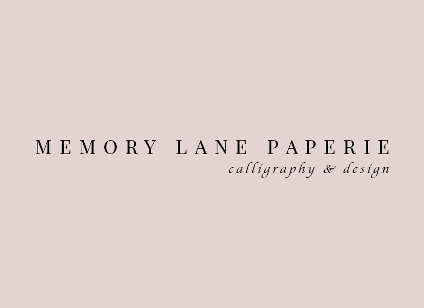 Memory Lane Paperie - Houston Wedding Calligraphy