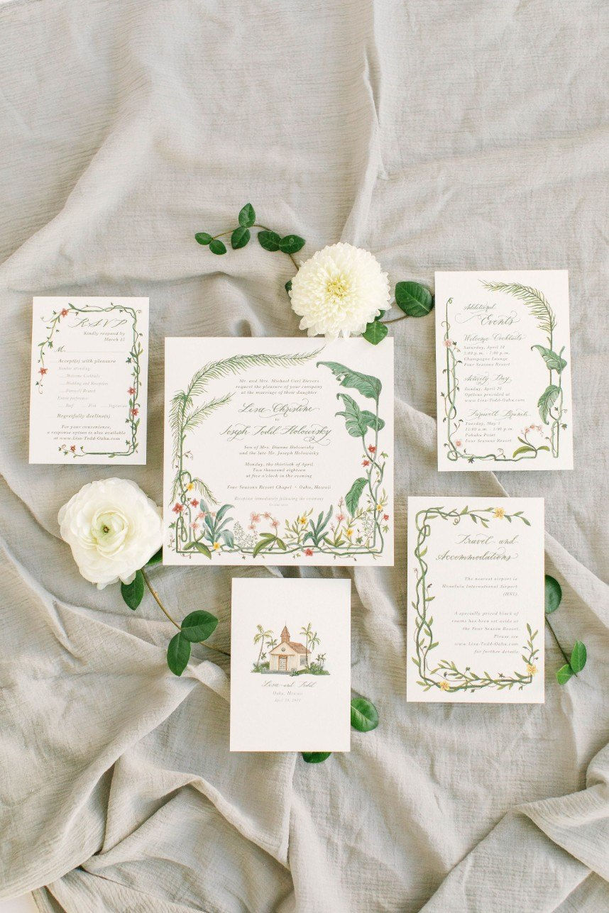 invitations by houston invitation designer half moon lettering