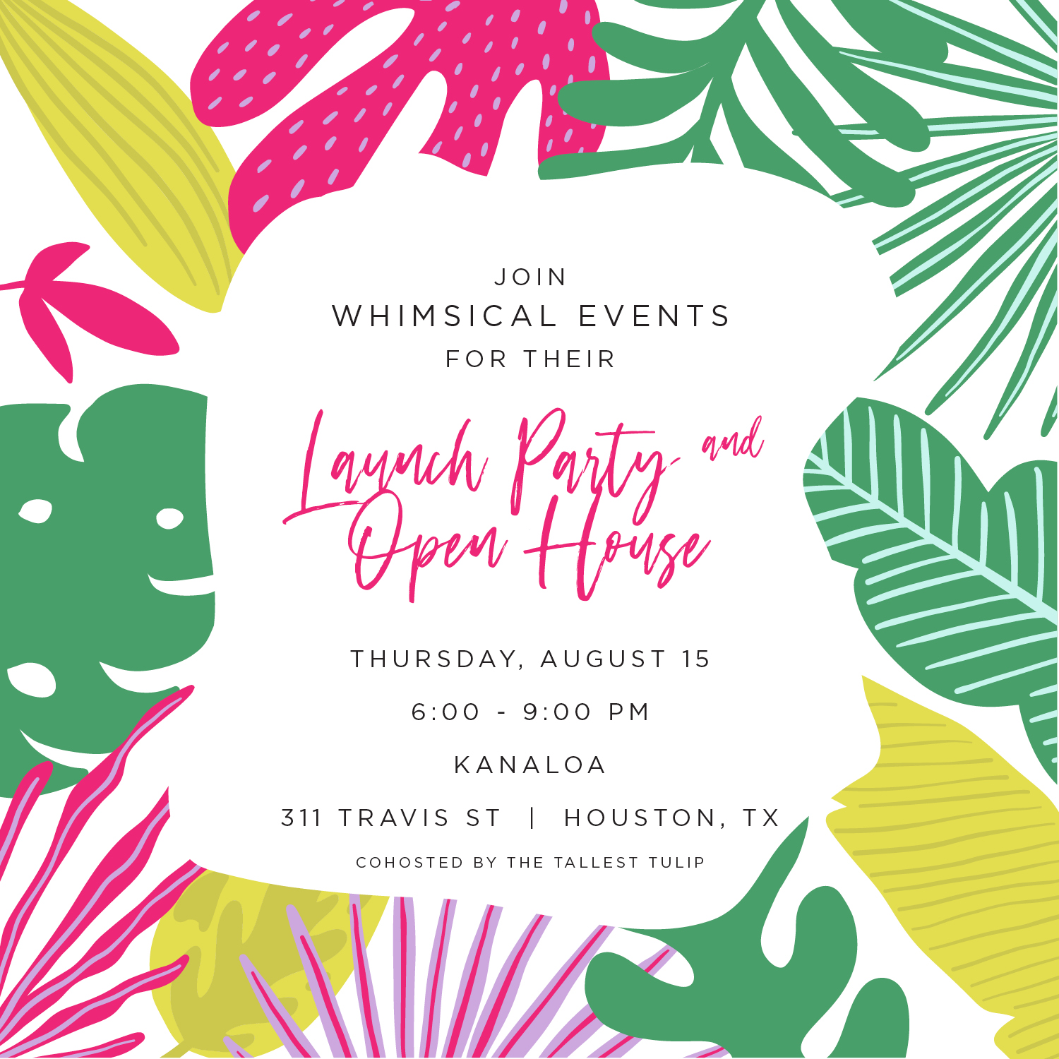 whimsical events launch party