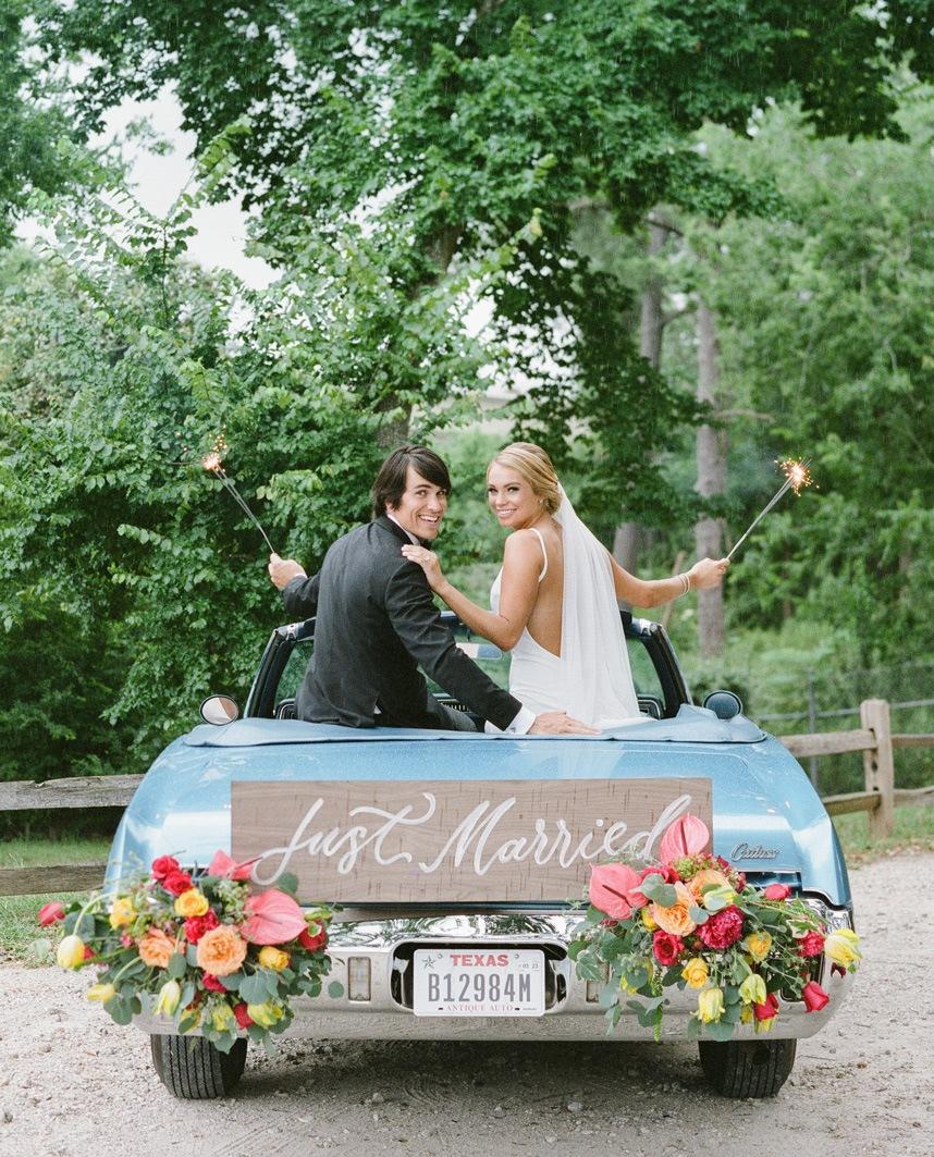 floral getaway car
