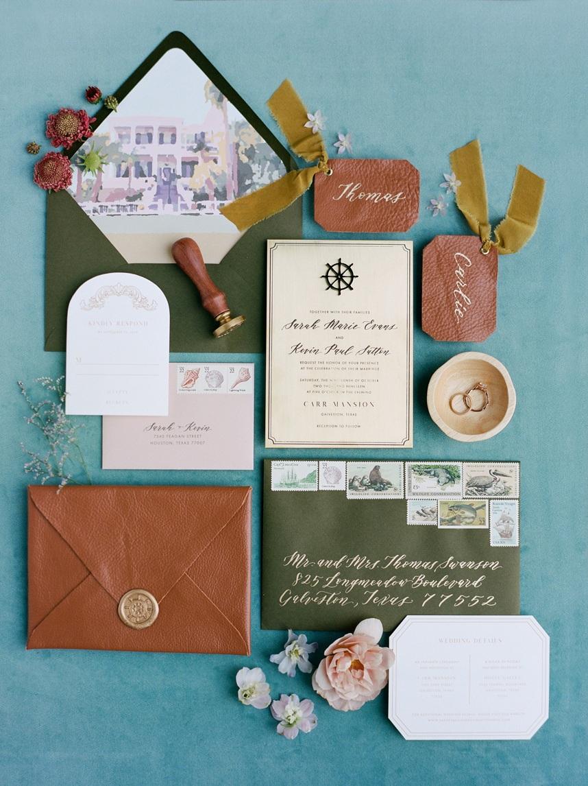 dreams and nostalgia nautical wedding invitation