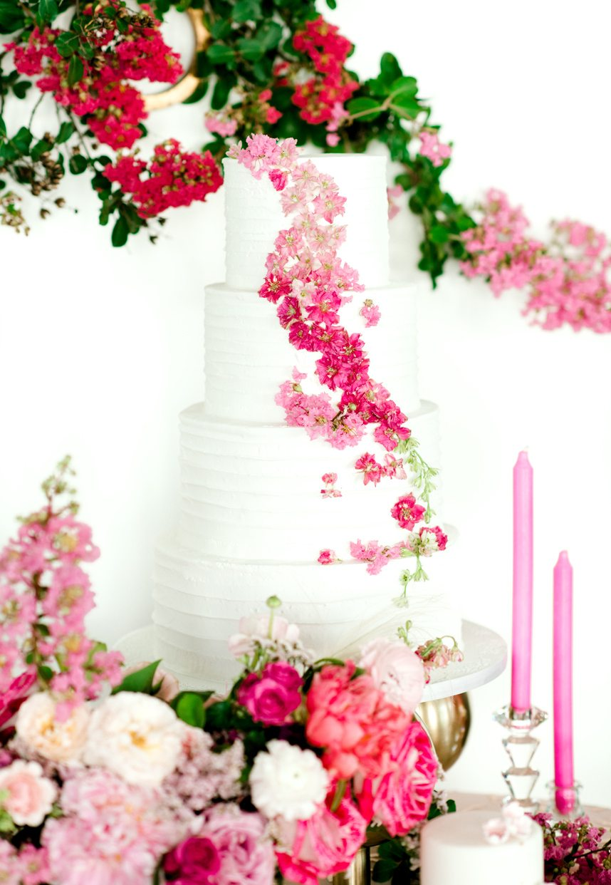 cakes by gina ombre pink wedding cake