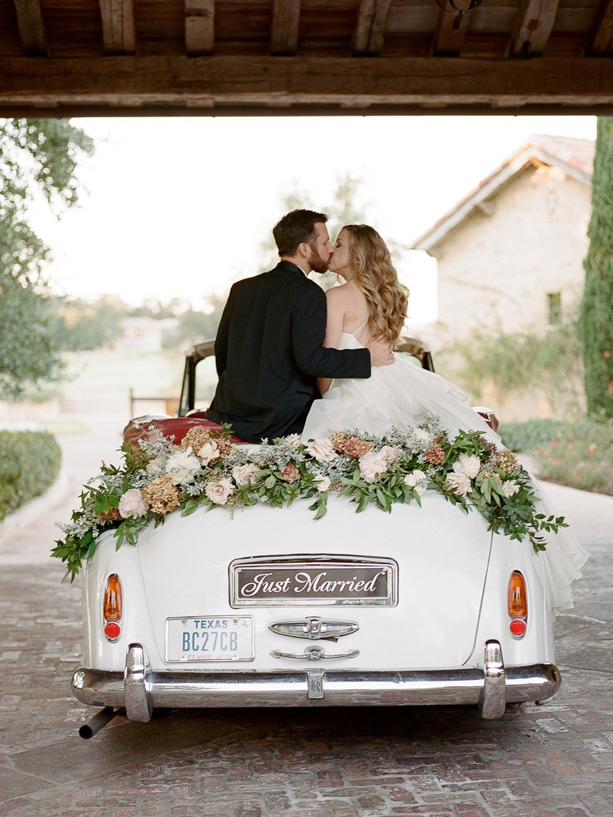 vintage getaway car | marriage license in texas