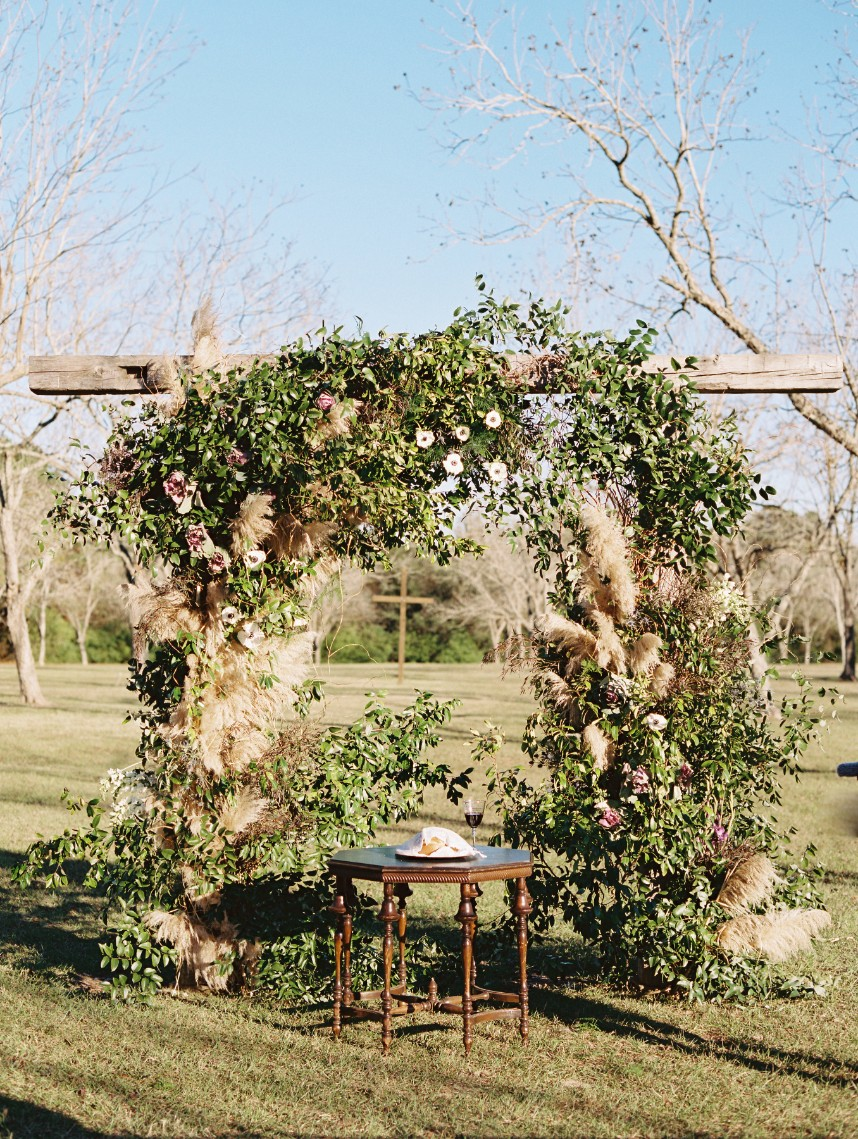 pampas grass altar