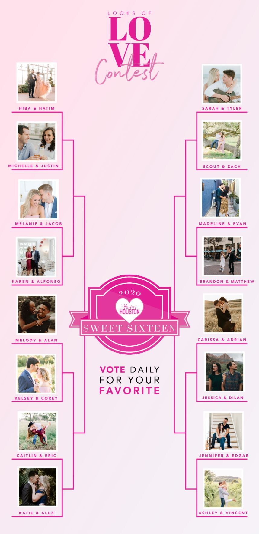 Looks of Love Contest 2020 – Cast your vote for our Sweet 16 Finalists!
