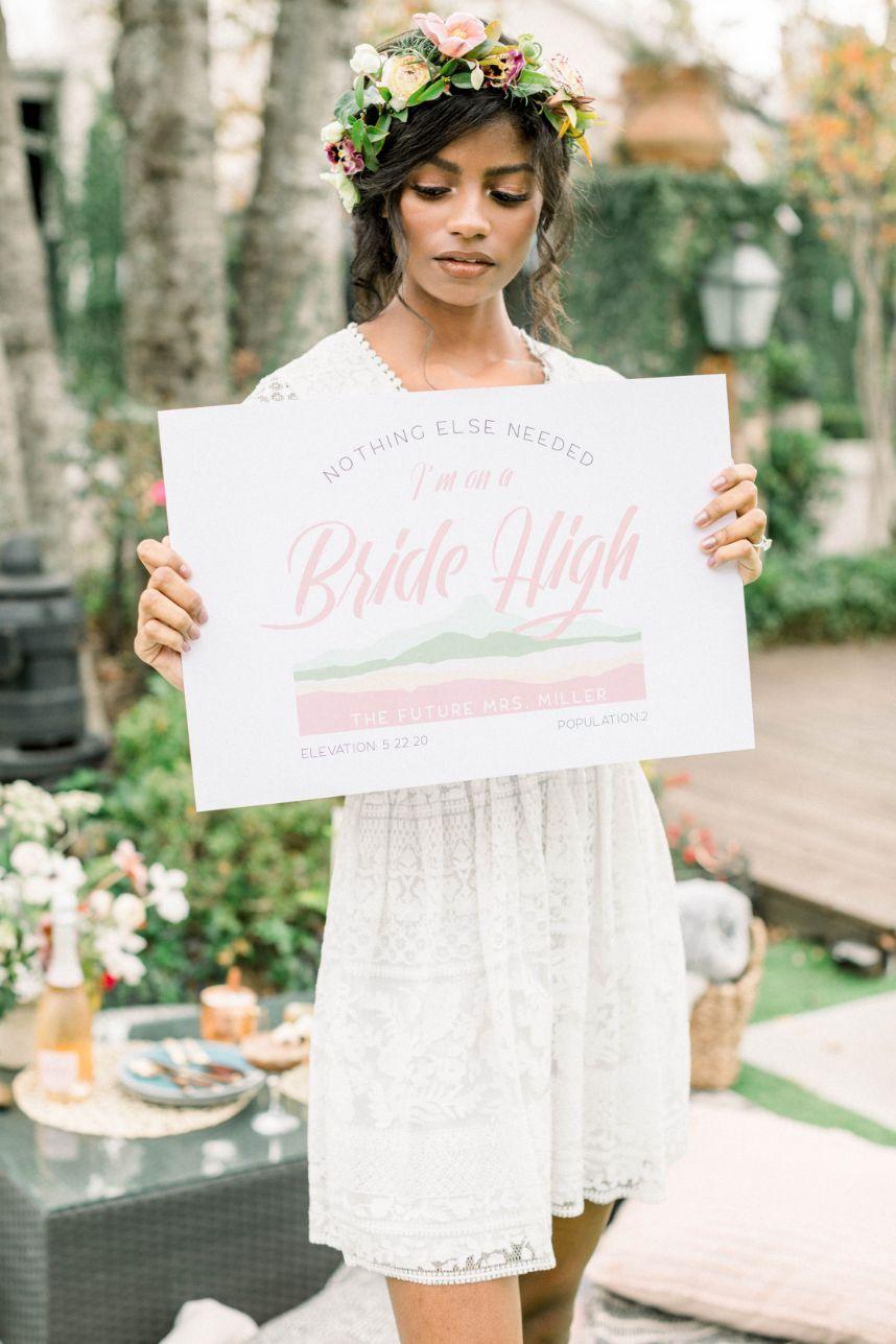 bride high signage