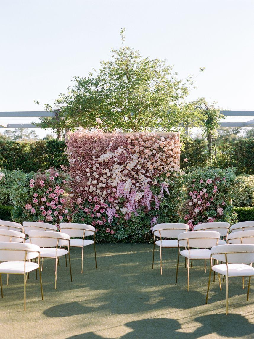 floral wall altar