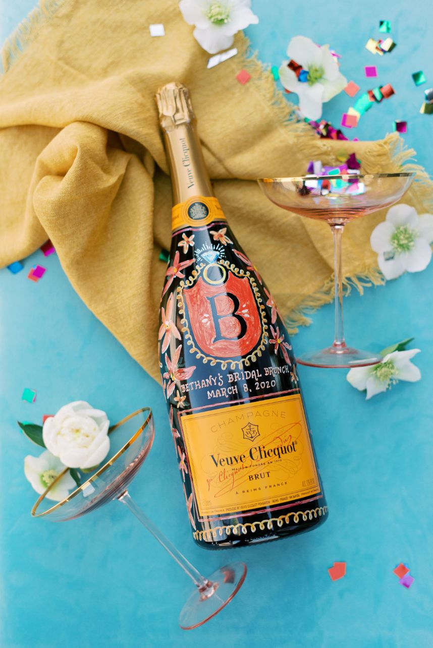 adorable champagne bottle