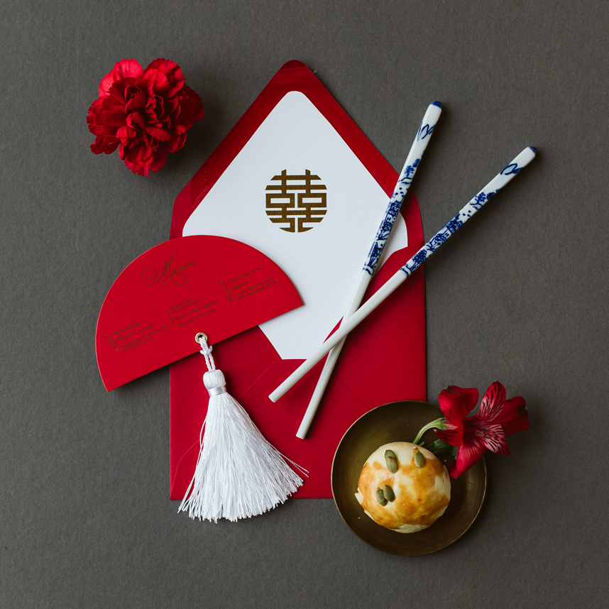 red chinese invitation