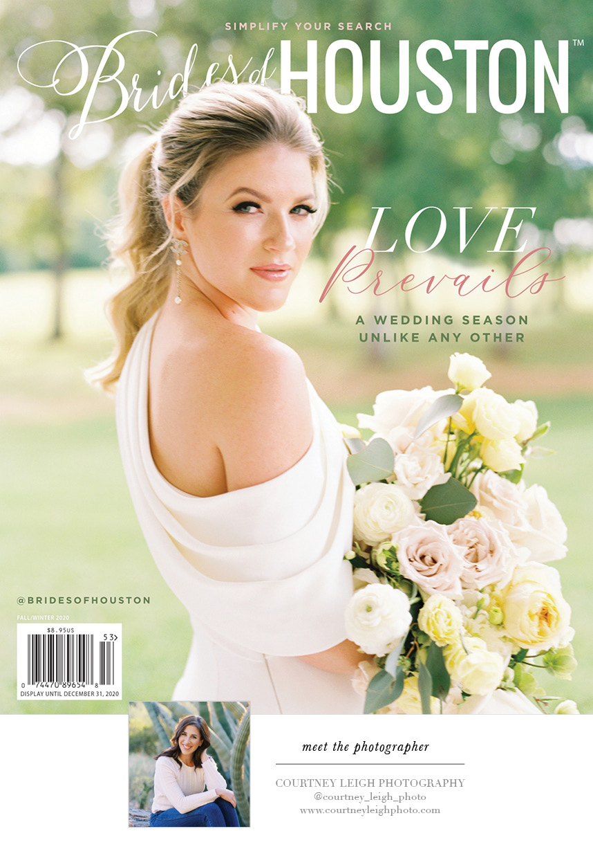 fall/winter 2020 cover brides of houston