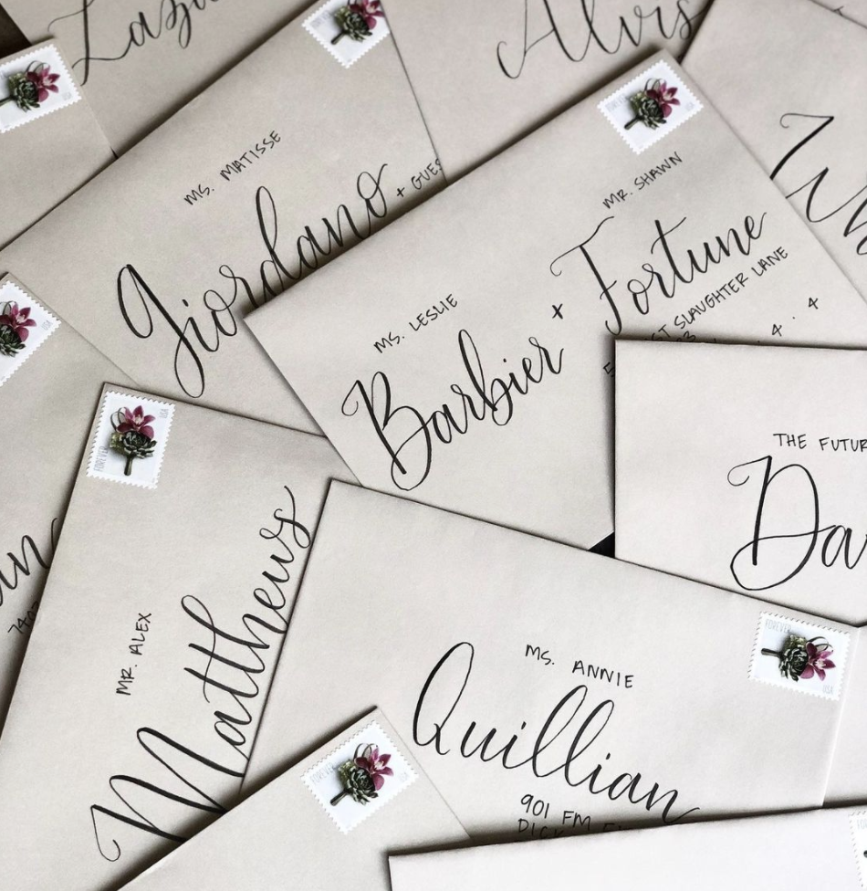 Steele Magnolia Calligraphy - Houston