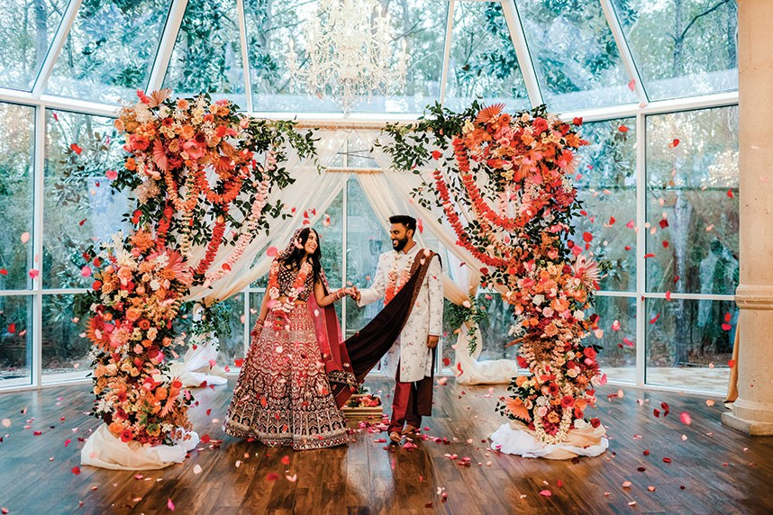 Fall in Love with This Elegant Traditional Indian Wedding Ceremony