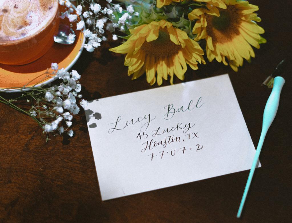 Steele Magnolia Calligraphy - Houston