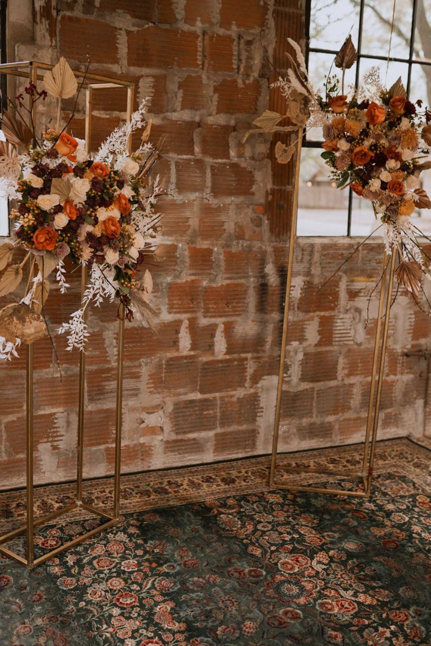 boho wedding altar
